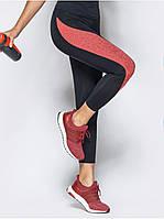 Лосины женские для фитнеса Go Fitness black-bordo, фото 1