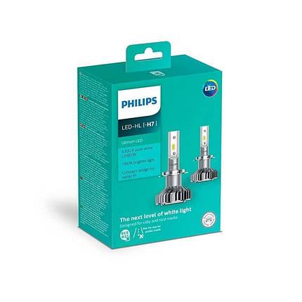 Cветодиодные лампы головного света Philips 11972ULWX2 Ultinon LED для цоколя H7, фото 2