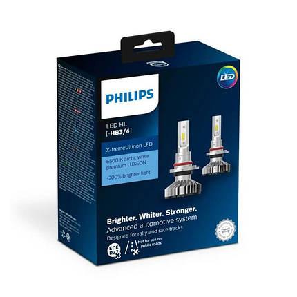 Светодиодные лампы головного света Philips 11005XUWX2 X-tremeUltinon LED для цоколя HB3/HB4, фото 2