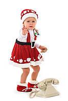 Детский карнавальный костюм Помощница Санта Клауса «Кроха» на рост 80-90 см