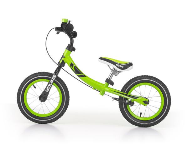 Детский беговел Milly Mally Young (зеленый(Green))