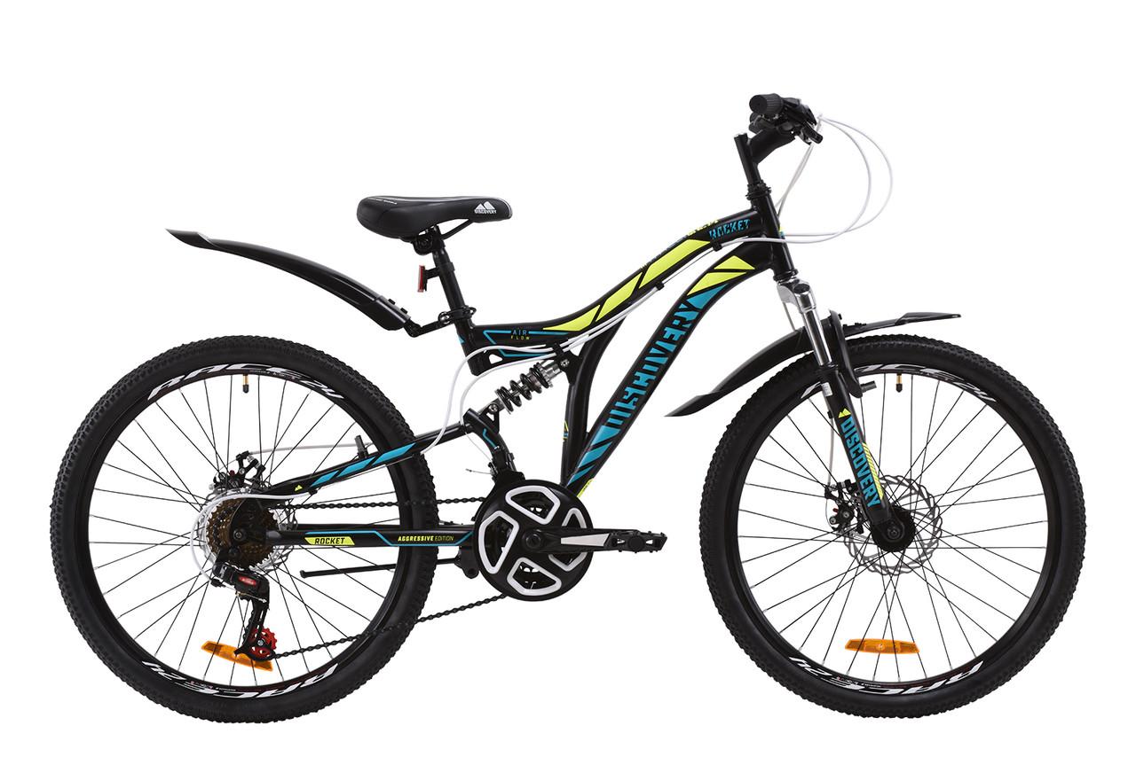 """Велосипед подростковый 24"""" Discovery ROCKET DD 2020 (рама 15"""", черный)"""