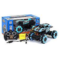 Машинка на радиоуправлении Racing Car на роликовых колесах (голубая)