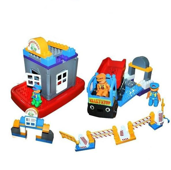 """Конструктор """"Автосервис"""" 86 деталей 013888/01, развивающая игрушка, подарок для ребенка"""