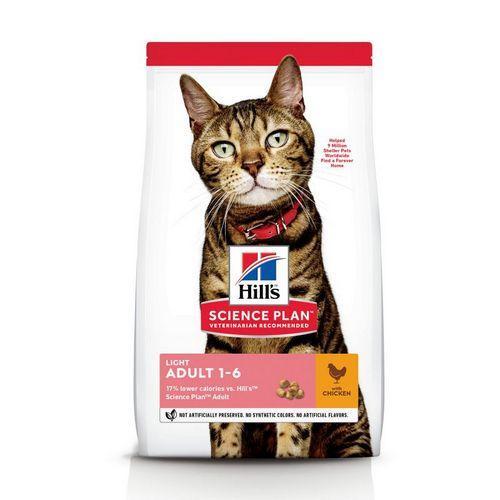 Корм для котів (Хілс) HILL'S Science Plan Feline Adult Light 10кг - для дорослих кішок схильних до надваги