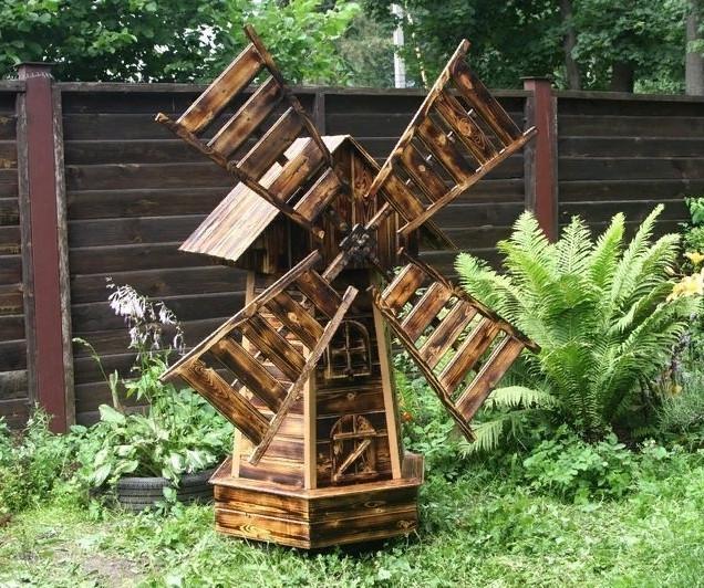 Декоративные мельницы для сада