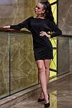 Трикотажне плаття міні з люрексом (3 кольори, р S,M,L,XL), фото 2