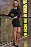 Трикотажне плаття міні з люрексом (3 кольори, р S,M,L,XL), фото 3