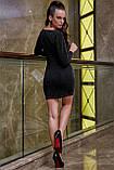 Трикотажне плаття міні з люрексом (3 кольори, р S,M,L,XL), фото 4