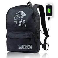 Светящийся городской рюкзак с usb зарядкой + замок (мальчик в шляпе)