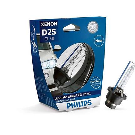 Ксеноновая лампа D2S Philips 85122WHV2S1 WhiteVision gen2 (блистер), фото 2