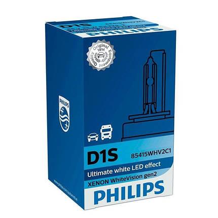 Ксеноновая лампа D1S Philips 85415WHV2C1 WhiteVision gen2, фото 2