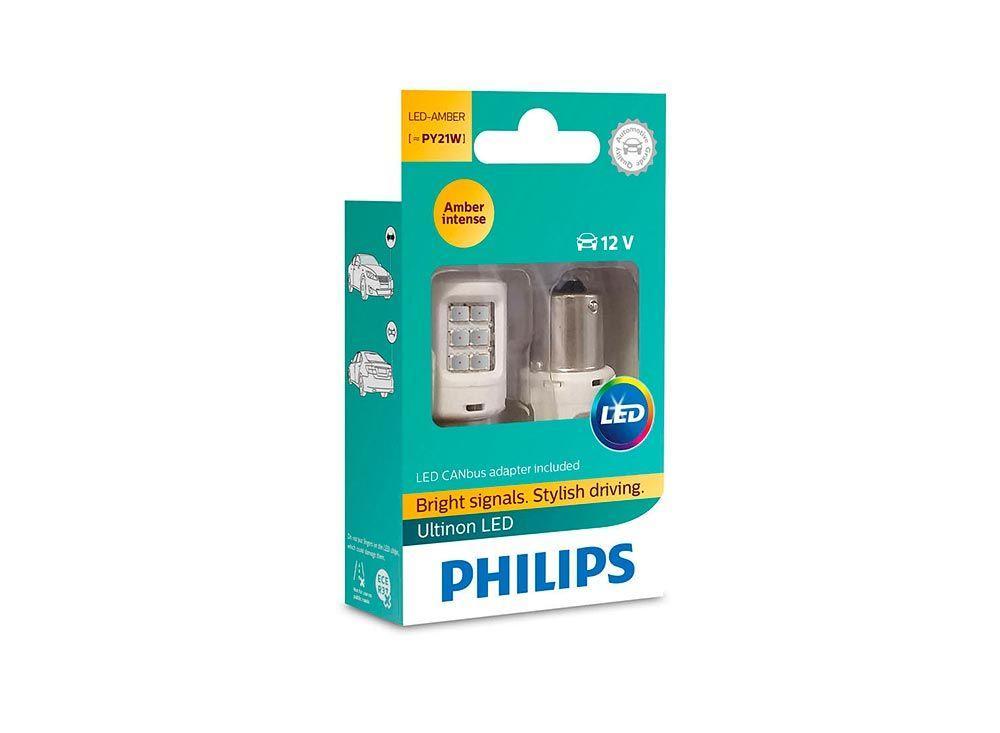 Светодиодные лампы PY21W Philips 11498ULAX2 Ultinon LED (Amber)
