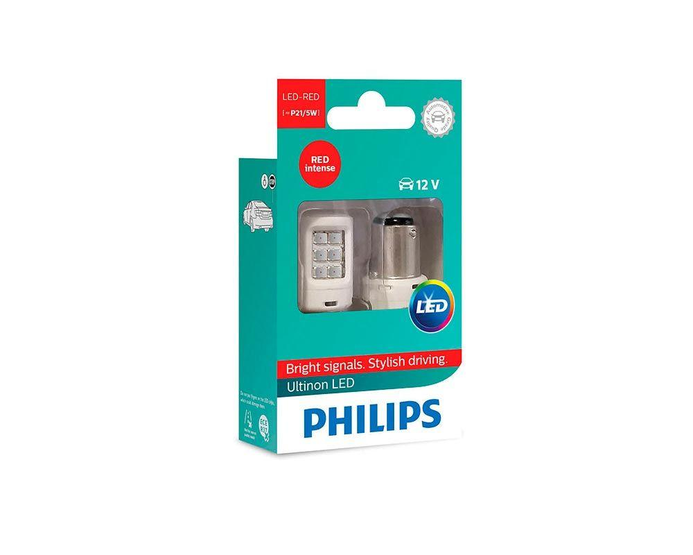 Светодиодные лампы P21/5W Philips 11499ULRX2 Ultinon LED (Red)