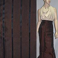 Тафта в полоску коричневая (14421.001)