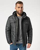 Мужская зимняя стёганная куртка с капюшоном Riccardo