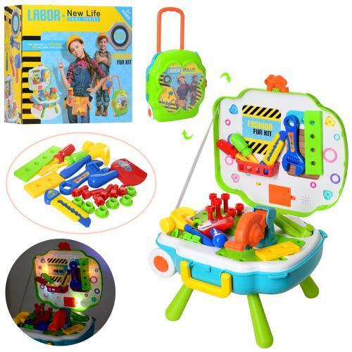 Детский набор инструментов в чемодане L666-23 с музыкальными и световыми эффектами