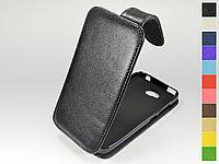 Откидной чехол из натуральной кожи для Huawei Y5C (Y541)