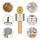 Портативный микрофон -караоке с динамиком Wster WS TyT, фото 3