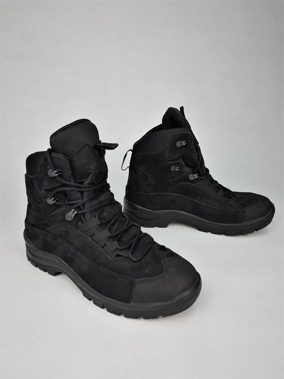Ботинки тактические Командос нубук на мембране черные