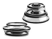 Вакуумные многоразовые крышки для хранения пищи Press Dome, 2 шт