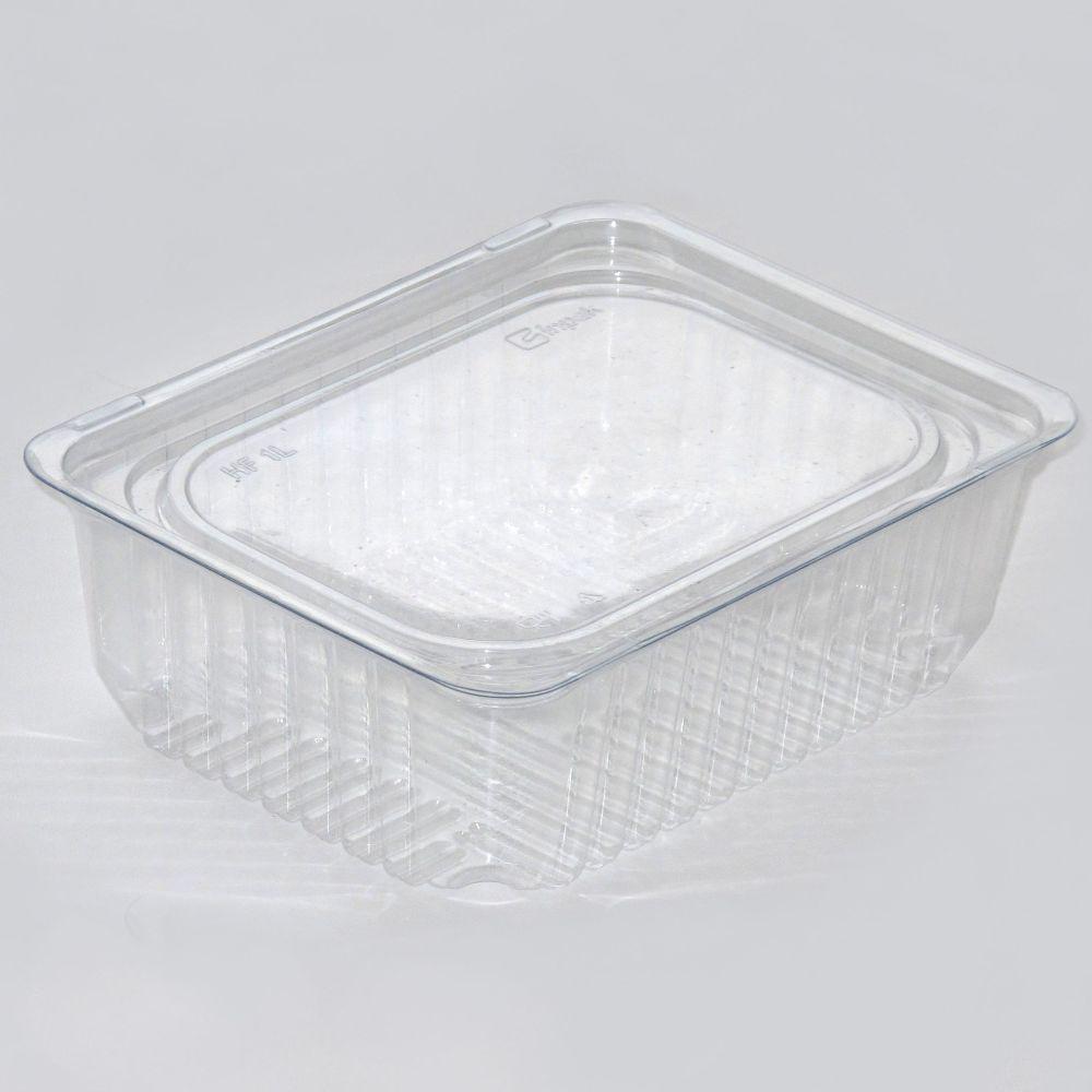 Одноразовый контейнер для еды 750мл с крышкой ПС-141 ДП + ПС14 16,2*12*5,5см 600шт.