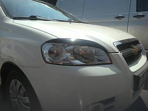 Реснички, накладки на фары Chevrolet Aveo III 2006 г. седан, фото 2