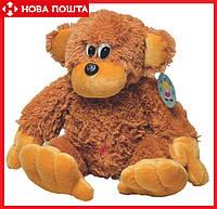 Мягкая Обезьянка Алина 55 см коричневая
