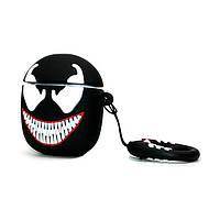 Чехол для наушников Apple AirPods Alitek Venom (Веном) + держатель на палец (88640)