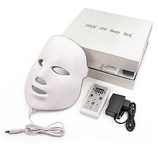 Фотодинамическая (Светодиодная) LED-маска для лица с коробкой и гарантией (7 цв)