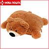 Подушка-игрушка Мишка 55 см коричневая