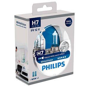 Галогенная лампа H7 Philips 12972WHVSM WhiteVision, фото 2
