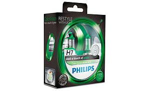 Галогенная лампа H7 Philips 12972CVPGS2 ColorVision зеленый, фото 2