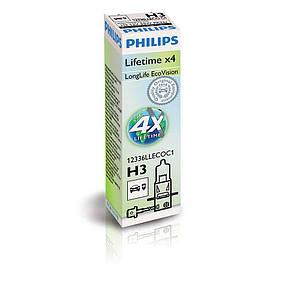 Галогенная лампа H3 Philips 12336LLECOC1 LongLife EcoVision +10%, фото 2