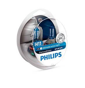 Галогенная лампа H11 Philips 12362DVS2 DiamondVision, фото 2