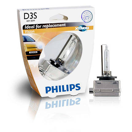 Ксеноновая лампа D3S Philips 42403VIS1 Vision (блистер), фото 2