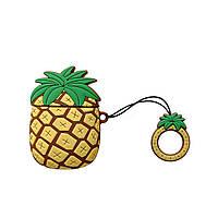 Чехол для наушников Apple AirPods Alitek Ананас Brown/Yellow + держатель (88645), фото 1