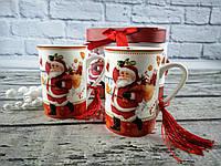 Новогодний сувенир Чашка 2 шт Sweet christmas Керамика В коробке 98944