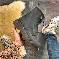 Женские ботинки Dr Martens Jadone Grey ТЕРМО