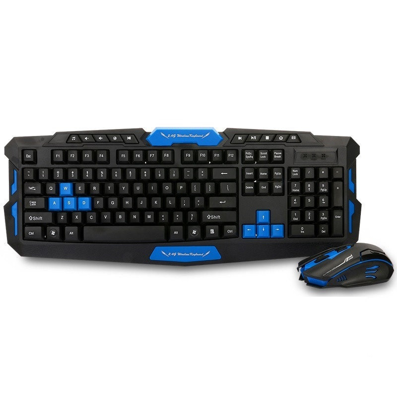 Беспроводная игровая клавиатура и мышка в комплекте. TyT