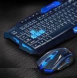Беспроводная игровая клавиатура и мышка в комплекте. TyT, фото 2