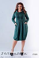 Ангоровое платье с карманами для полных бутылка, фото 1