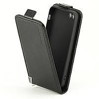 Чехол Idewei для Iphone 5 / 5S / SE флип вертикальный кожа PU черный