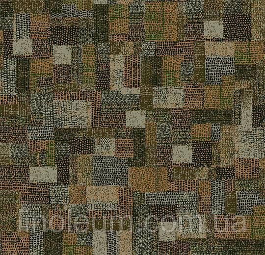 Ковролин флокированное покрытие Flotex vision pattern 610002 Collage Moss