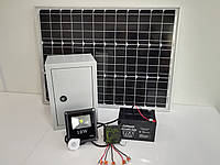 10W світлодіодний вуличний автономний прожектор SMD з сонячною батареєю 30W, фото 1