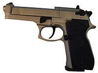 Пневматический пистолет Beretta M 92 FS (никель, пластик), фото 1
