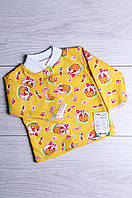 Кофта детская с начесом желтая ABC 2390