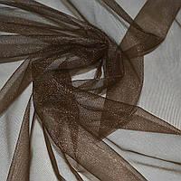 Сітка трикотажна прозора коричнева ш.160 (14815.024)