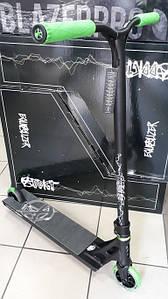 Самокат трюковий Addict Equalizer Scooter Black/Green 2019 для екстремального катання