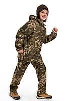 Детский камуфляж костюм OUTDOOR теплый Вулкан Soft-Shell Пиксель